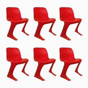 Z Chairs by Ernst Moeckel & Siegfried Mehl for VEB Petrochemisches Kombinat Schwedt, 1960s, Set of 6