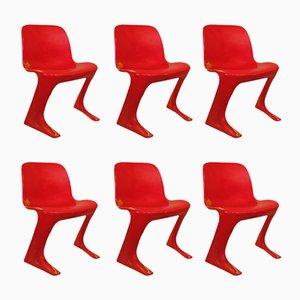 Z Chairs by Ernst Moeckel & Siegfried Mehl for VEB Petrochemisches Kombinat Schwedt, 1960s, Set of 6