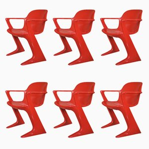 Kangaroo Chair by Ernst Moeckel & Siegfried Mehl for VEB Petrochemisches Kombinat Schwedt, 1960s, Set of 6