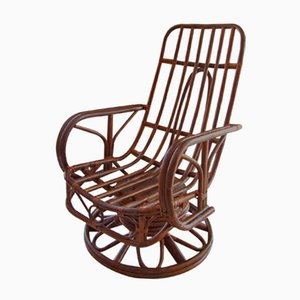 Rocking Chair Mid-Century en Rotin