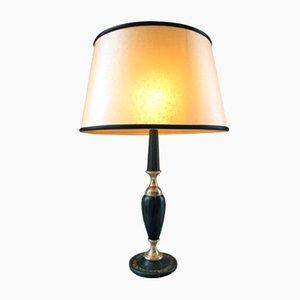 Lampada da tavolo in pelle di Le Tanneur, anni '60