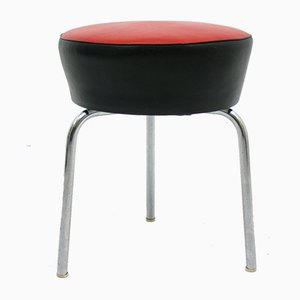Mid-Century German Bauhaus Tubular Steel Stool from Mauser Werke