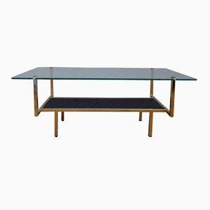 Table Basse Minimaliste Mid-Century en Métal et Verre