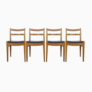 Belgian Chairs by Jos de Mey for Van den Berghe Pauvers, 1950s, Set of 4