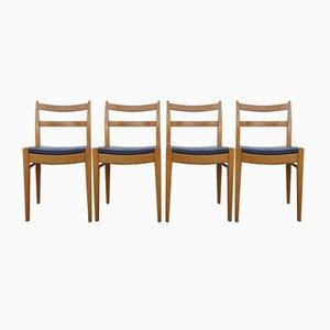 Belgian Chairs by Jos de Mey for Van den Berghe Pauvers, 1950s, Set of 4