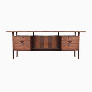 Mid-Century FM60 Rosewood Desk by Kai Kristiansen for Feldballes Møbelfabrik