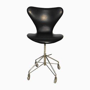 Silla giratoria Series 7 vintage de Arne Jacobsen para Fritz Hansen