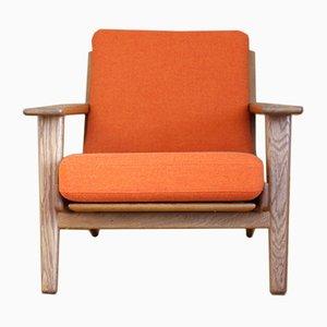 GE 290 Oak Lounge Chair By Hans Wegner For Getama, 1953