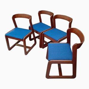 Esszimmerstühle von Willy Rizzo für Mario Sabot, 1970er, 4er Set