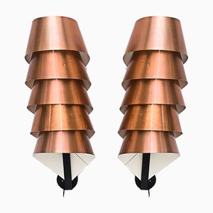 Copper Sconces by Hans-Agne Jakobsson, 1960s, Set of 2