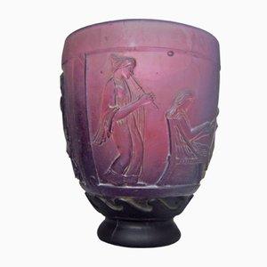 Vase Art Déco en Verre par Georges de Feure, 1920s
