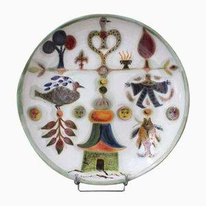 Keramik Teller von David Sol, 1950er