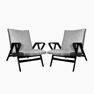 Czech Bent-Plywood Armchairs from Tatra, 1950s, Set of 2