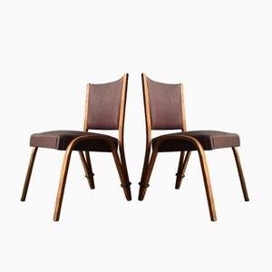 Gebogene Vintage Holzstühle von Wilhelm Von Bode für Steiner, 2er Set