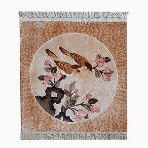 Handgewobener Chinesischer Seiden Teppich, 1980er