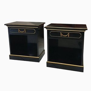 French Bedside Tables by Maurice Hirch, 1940s, Set of 2