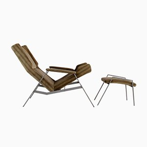Italian Model 125 Chair & Ottoman by Felice Rossi, 1960s