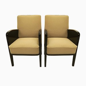 French Lounge Chairs by Damon & Berteaux, 1930s, Set of 2