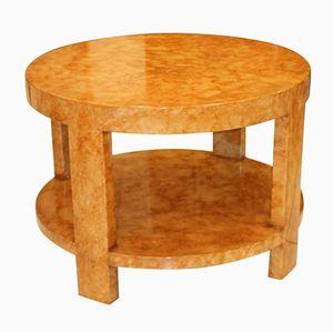 Varnished Parchment Veneer Side Table