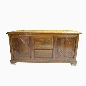 Cajonera española vintage de madera sólida, años 50