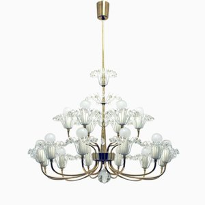 Mid-Century 18-Flames Chandelier by Emil Stejnar for Nikoll