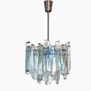Lámpara colgante modelo Fuente de vidrio de Kalmar, años 60