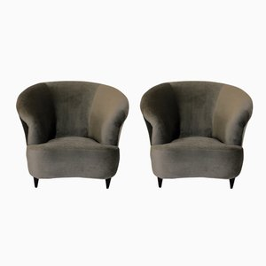 Mid-Century Large Lounge Chairs By Ico & Luisa Parisi, Set of 2