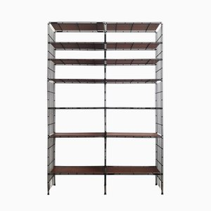 Vintage Wood Veneer Modular Shelving Unit from Multimueble, 1960s