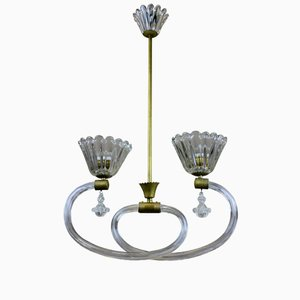 Italienische Deckenlampe von Barovier & Toso, 1950er
