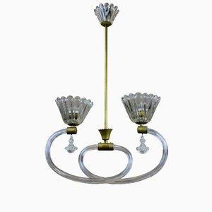Lampada da soffitto di Barovier & Toso, Italia, anni '50