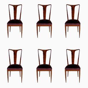 Chaises de Salon Mid-Century par Ulrich, Set de 6
