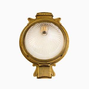 Lampada da tavolo antica in vetro inciso