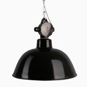 Vintage Industrial Pendant Lamp from VEB, 1950s