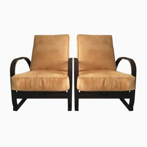 Art Deco H70 Armchairs by Jindřich Halabala, 1930s, Set of 2
