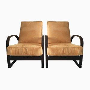 Art Deco H70 Armlehnstühle von Jindřich Halabala, 1930er, 2er Set