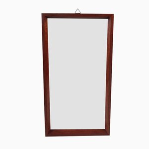 Small Vintage Danish Teak Mirror, 1960s