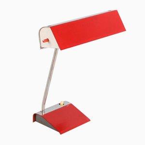 Lampe de Bureau Vintage Rouge par Josef Hurka, 1960s