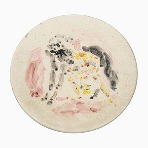 Keramik Teller von Marcel Vertès für Tapis Vert Vallauris, 1950er