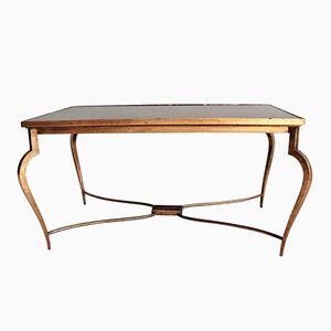 Mirror Coffee Table by René Prou, 1940s