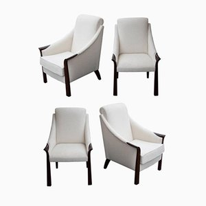 Vintage Armchairs from Moret, 1930s, Set of 4