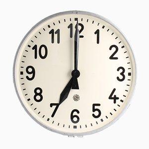 Große Industrielle Vintage Uhr von Chronotechna