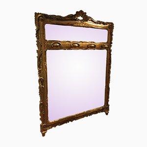 Goldfarbener Spiegel mit Haken, 1800er