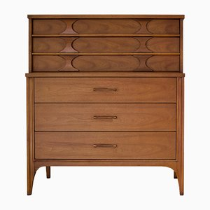 Walnut and Rosewood Chest of Drawers from Kent-Coffey, 1960s