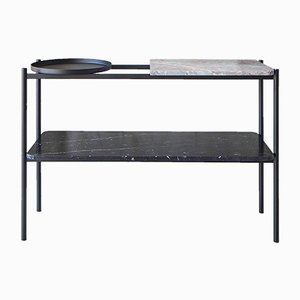 Classic Series Bagnères Console Marble and Metal Table by Sylvain Willenz for Versant Edition