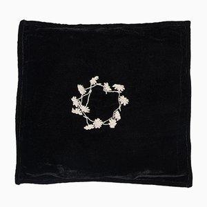 Schwarzes Viereckiges Louvre Kissen von Jackie Villevoye für Jupe by Jackie