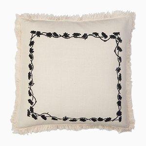 Cuscino Louvre bianco quadrato di Jackie Villevoye per Jupe by Jackie