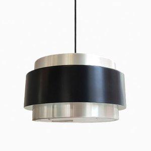 Lampada a sospensione Saturn in alluminio di Jo Hammerborg per Fog & Mørup, anni '60