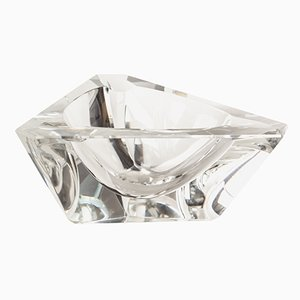 Vintage Crystal Glass Ashtray by Moser, 1970s