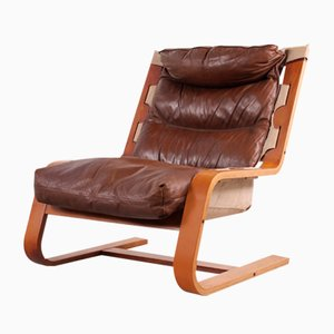 Vintage Plywood Lounge Chair, 1960s