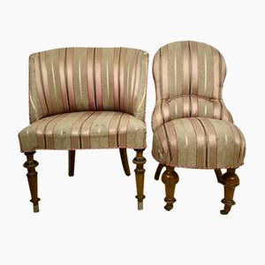 Antique 19th-Century Armchairs, Set of 2